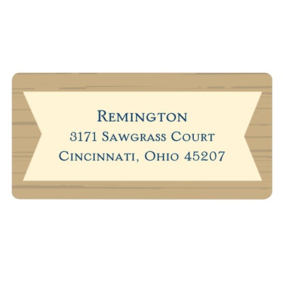 Wood Grain Graduate Graduation Address Labels
