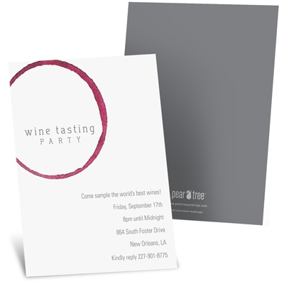 Wine Remnants Wine Tasting Party Invitations