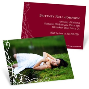 Senior Swirls -- Mini Graduation Announcements