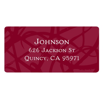 Senior Swirls -- Return Address Labels