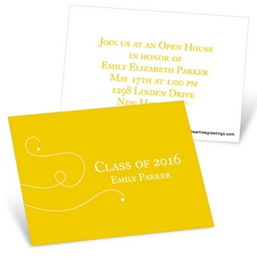 Simply Written -- Mini Graduation Announcements
