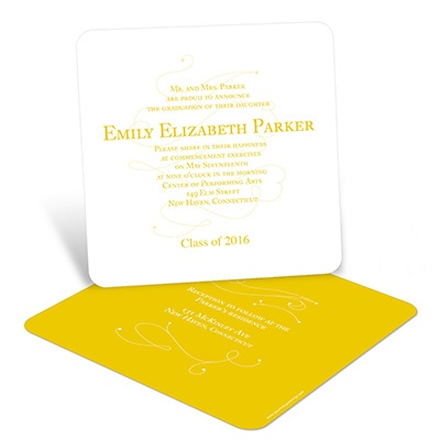 Simply Written Graduation Announcements