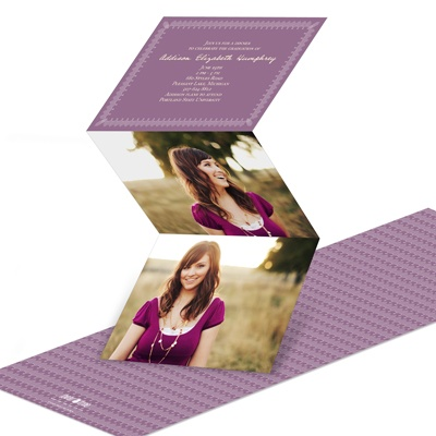 Scalloped Border -- Custom Graduation Invitations