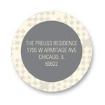 Sassy Stars -- Circle Address Labels