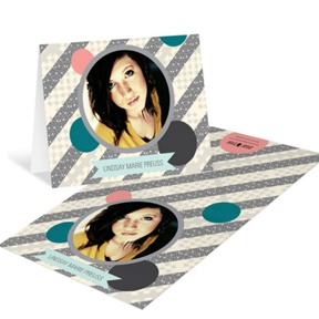 Sassy Stripes -- Graduation Thank You Cards