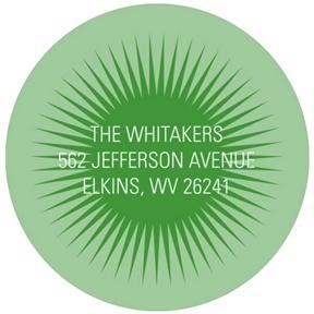 Mesmerizing Circle -- Graduation Address Labels