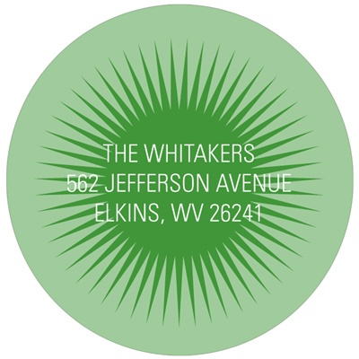 Mesmerizing Circle -- Modern Return Address Labels
