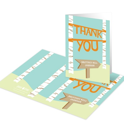 Pointing to the Future Graduation Thank You Cards