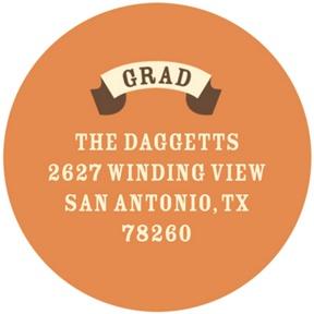 Vintage Banner -- Graduation Address Labels