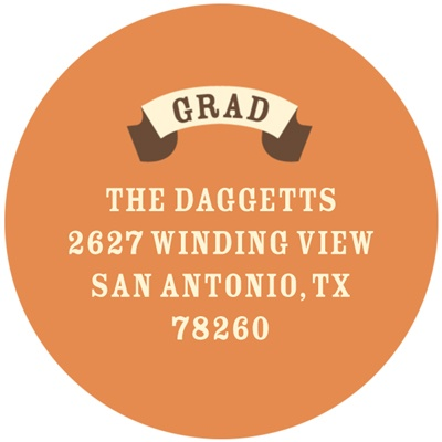 Vintage Banner Graduation Address Labels