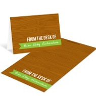 Custom Wood Grain Mini Note Cards Teacher Stationery
