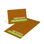 Custom Wood Grain Greeting -- Wood Grain Notelettes