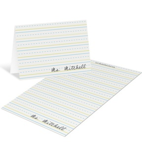 Stay in the Lines Mini Note Cards -- Teacher Stationery