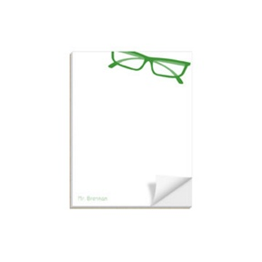His Spectacles -- Custom Notepads