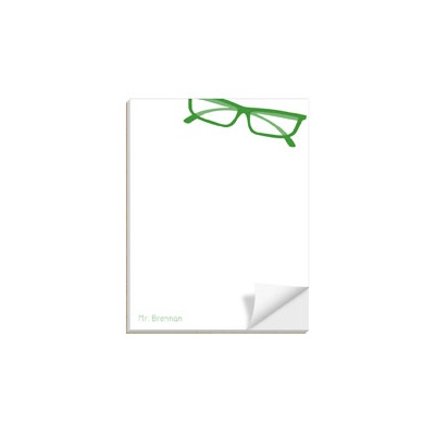 His Spectacles Custom Notepads