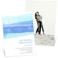 Vivid Blue Watercolor Wedding Invitations