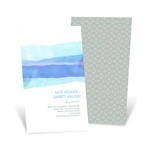 Vivid Blue Watercolor -- Elegant Wedding Invitations