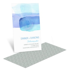 Vivid Blue Watercolor -- Reception Invitation Cards