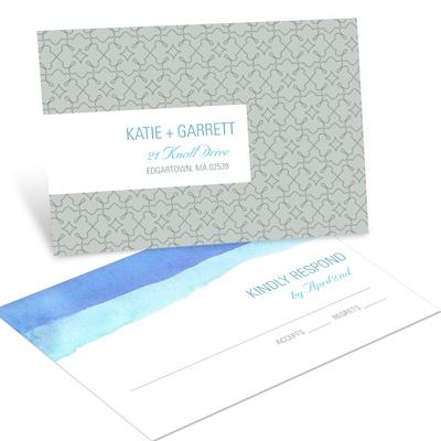 Vivid Blue Watercolor RSVP Postcards