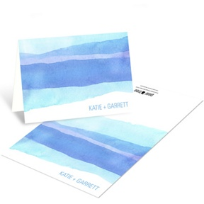 Vivid Blue Watercolor -- Elegant Thank You Cards