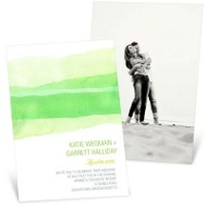 Vivid Green Watercolor Wedding Invitations