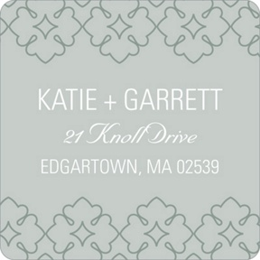 Swirling Details -- Wedding Return Address Labels