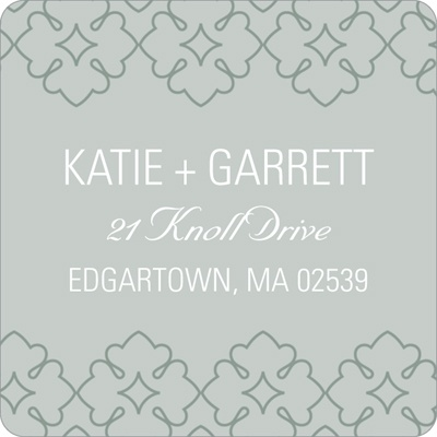 Swirling Details Wedding Return Address Labels