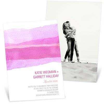 Vivid Pink Watercolor Wedding Invitations