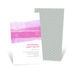 Vivid Pink Watercolor -- Elegant Wedding Invitations