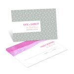Vivid Pink Watercolor -- Wedding RSVP Postcards