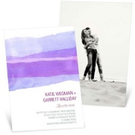 Vivid Purple Watercolor Wedding Invitations