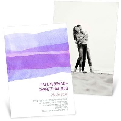 Vivid Purple Watercolor Wedding Invitations