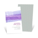 Vivid Purple Watercolor -- Elegant Wedding Invitations