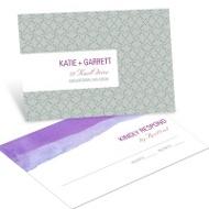 Vivid Purple Watercolor Response Postcards