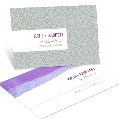 Vivid Purple Watercolor Response Postcards