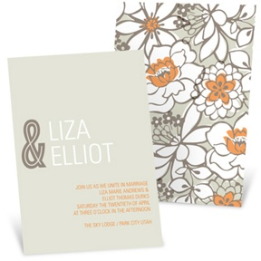 Blissful Blooms -- Vintage Floral Wedding Invitations