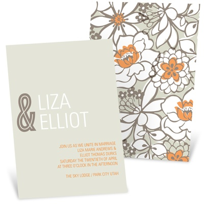 Blissful Blooms Vintage Floral Wedding Invitations