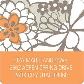 Blissful Blooms -- Floral Address Labels