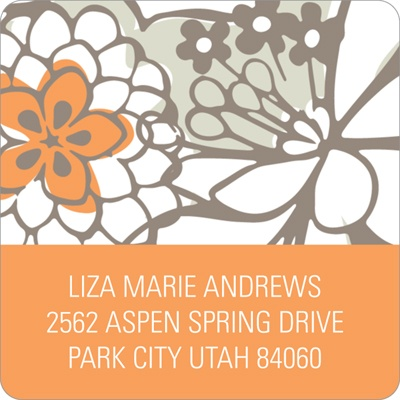 Blissful Blooms -- Floral Address Labels