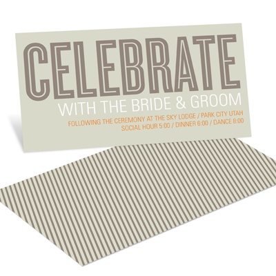 Modern Celebration Reception Cards