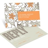 Blissful Blooms Wedding Reply Postcards