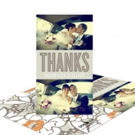 Blooming with Thanks Vintage Wedding Thank You Cards