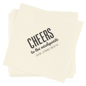 Bold Cheers -- Wedding Napkins