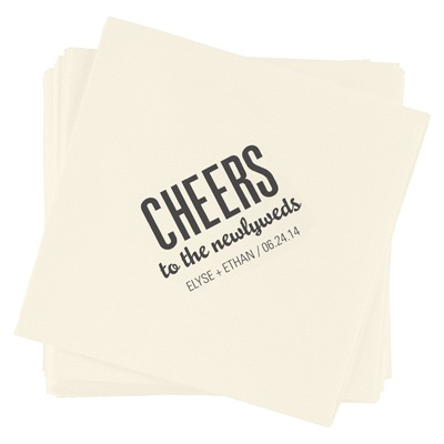 Bold Cheers Wedding Napkins