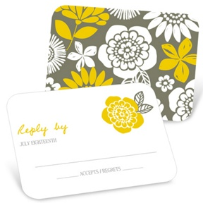 Bold Beauty -- Unique RSVP Cards