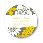 Bold Beauty -- Personalized Wedding Return Address Labels