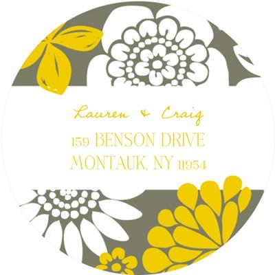 Bold Beauty Personalized Wedding Return Address Labels