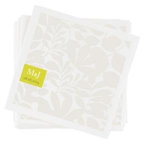 Floral Monogram -- Custom Wedding Napkins