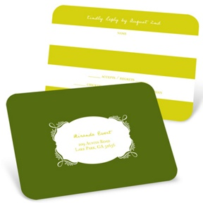 Enamored with Elegance -- Wedding Response Postcards