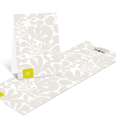Enamored with Elegance Monogram Thank You Cards